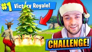 CHRISTMAS TREE CHALLENGE in Fortnite: Battle Royale!