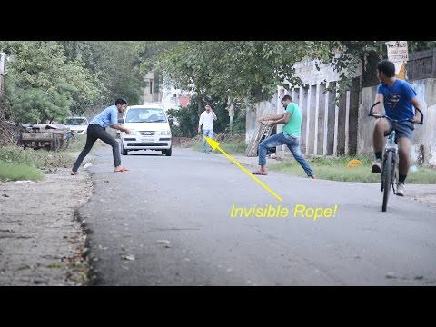 Funny Pranks - Invisible Rope Prank |Tangy Sharma