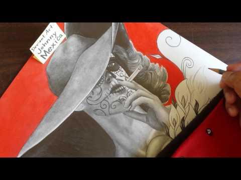 Tobacco kills- modern art masterpiece day of the dead mashup