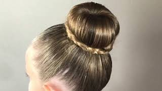 Chignon Donut : coiffure rapide et simple