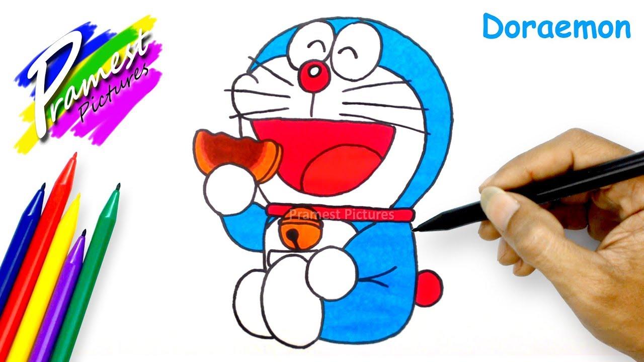 Doraemon #2 | Cara Menggambar Dan Mewarnai Gambar Kartun ...