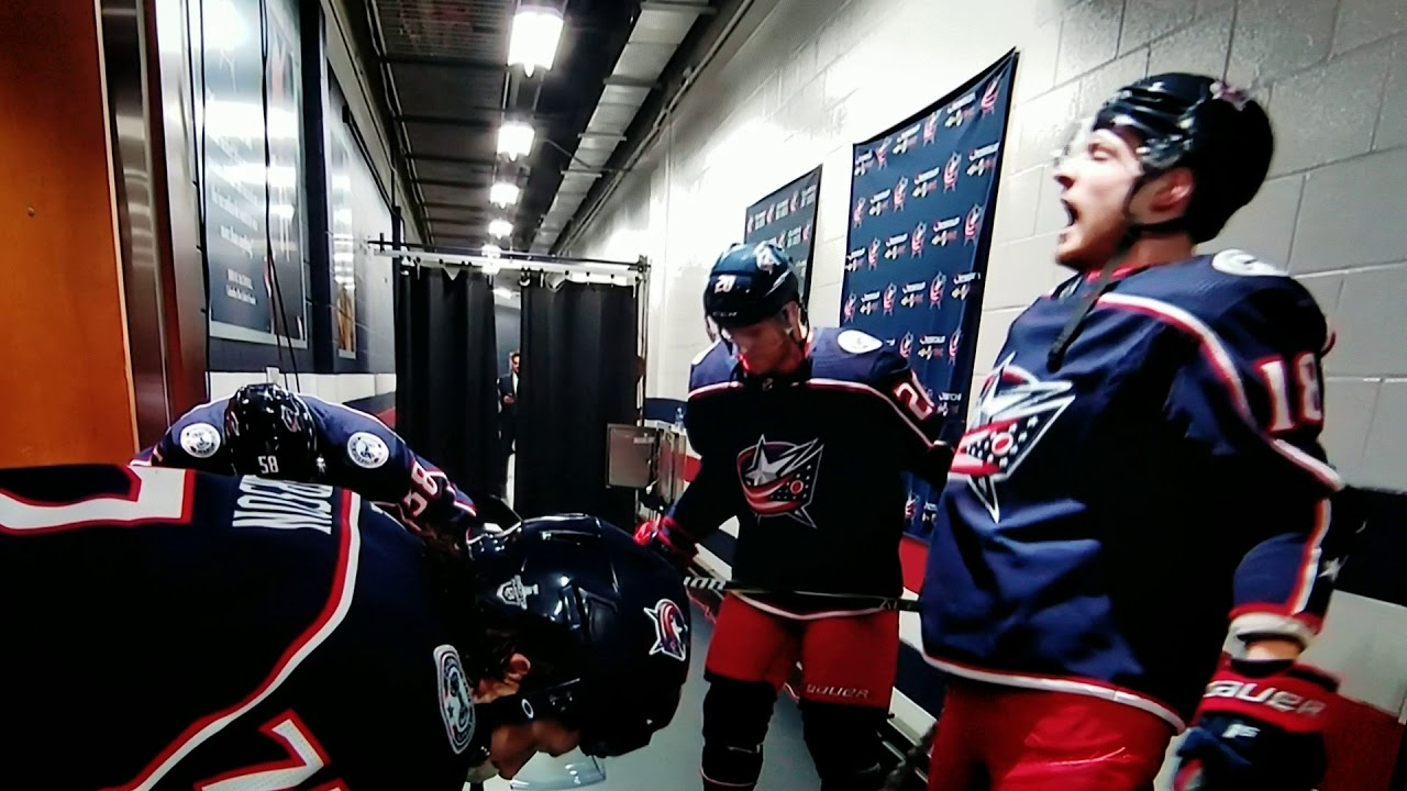Pierre-Luc Dubois french lesson playoffs 2019 - YouTube