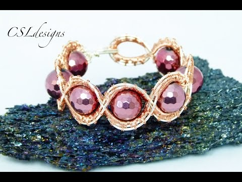 Sunburst wirework bracelet