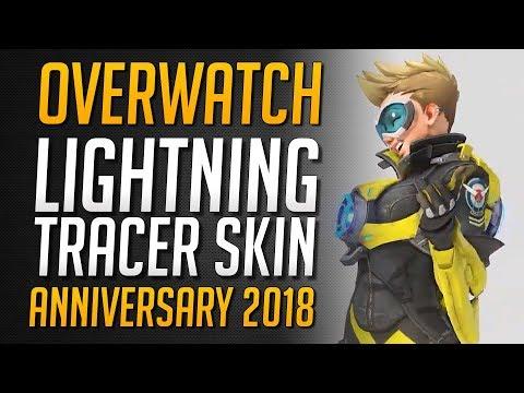 LIGHTNING TRACER EVENT SKIN | Epischer Tracer Anniversary Skin enthüllt ★ Overwatch Deutsch thumbnail