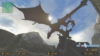 Counter Strike Source Zombie Escape mod online gameplay on Skyrim map