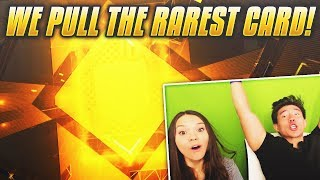 WE PULL THE RAREST CARD IN THE GAME! Madden 19 Pack Opening w/ My Girl!