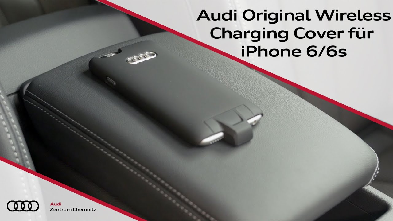 audi original wireless charging cover f r iphone 6 6s youtube. Black Bedroom Furniture Sets. Home Design Ideas