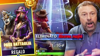 REGALO il PASS a PAPA' e fa 1 KILL IN LIVE! *PANICO* Fortnite Battle Royale ITA!