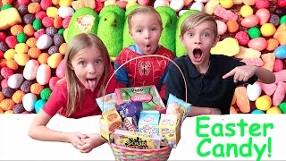 🐰EASTER CANDY CHALLENGE!🍬🍭Kids try fun Easter candy.