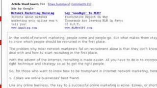 Get free web traffic and make money - part 1