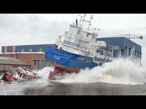 Ship Launch of General Cargo Ship ELKE K. at Royal Bodewes shipyard