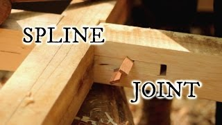 Our timberframe cabin part VIII: Japanese style spline joint