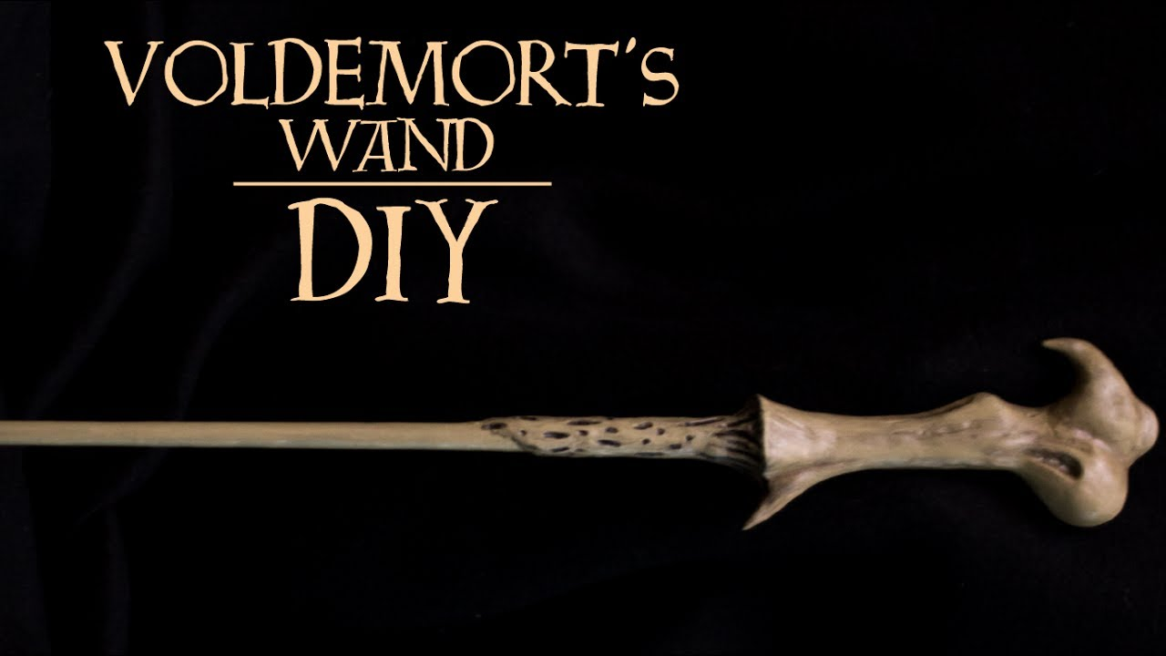Lord voldemort 39 s wand harry potter diy youtube for Voldemort wand