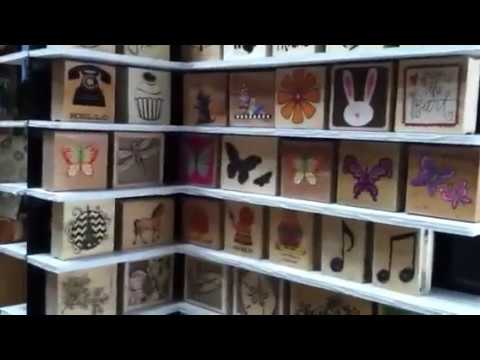 Diy, recycled display, for Wooden stamp storage :)