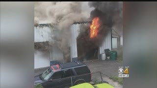 Lawrence Fire Spreads From Repair Shop To Apartment Buildings
