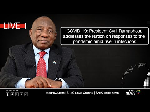 President Cyril Ramaphosa Nation address on COVID-19 responses