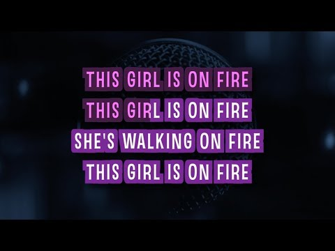 Girl On Fire Karaoke Version by Glee Cast (Video with Lyrics)