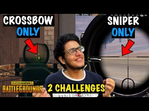 CROSSBOW Only Challenge + SNIPER Only Challenge in PUBG | Live Insaan