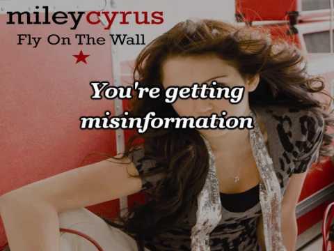 Miley Cyrus - Fly On The Wall (минус) - Минус - скачать и послушать онлайн mp3 на большой скорости