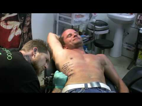 Rib Cage Tattoo | Gizmo\'s Dallas - YouTube