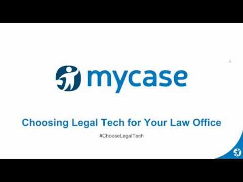 MyCase Webinar Series:  Choosing Legal Tech for Your Law Office