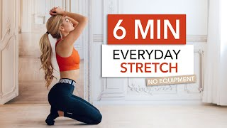 6 MIN EVERYDAY STRETCH - for stiff muscles, flexibility & after your workout I Pamela Reif