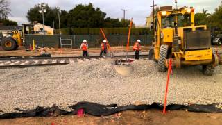 Metro Expo Line Westwood Blvd track installation -- part 1