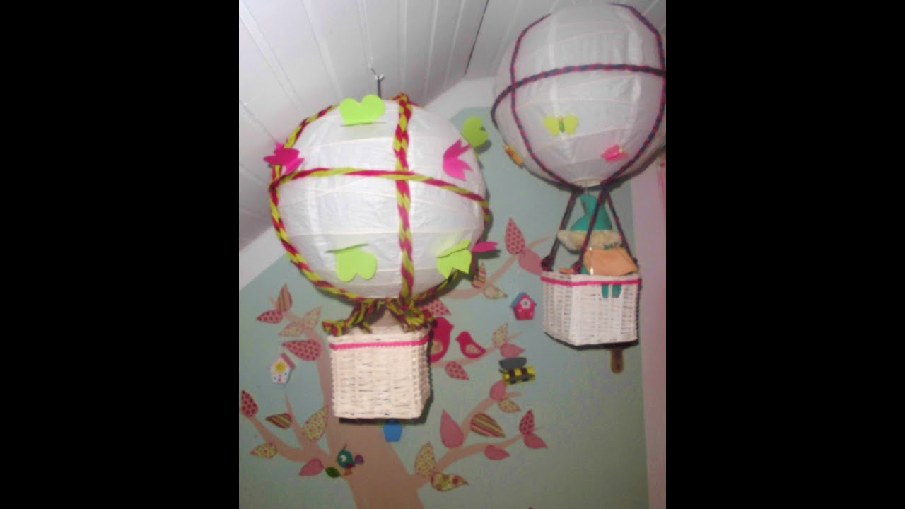diy kinderzimmer deko tipp hei luftballon selber machen lampe youtube. Black Bedroom Furniture Sets. Home Design Ideas