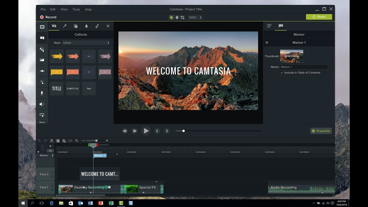 TechSmith Camtasia Studio 9.1.1
