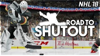 NHL 18 ROAD TO SHUTOUT #1