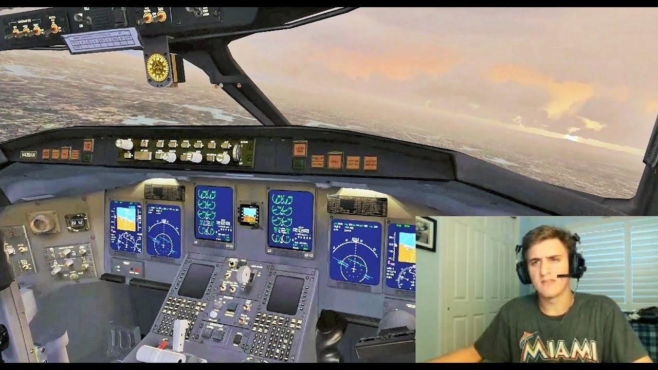 Vatsim Shared Cockpit Crj 200 Landing At Boston Logan