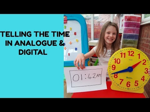 Telling The Time In Analogue And Digital On A 12 Hour Clock (AM And PM)