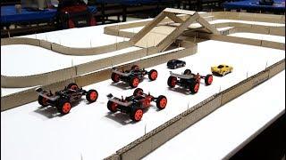 Сделайте картонную гоночную дорогу для суперкаров