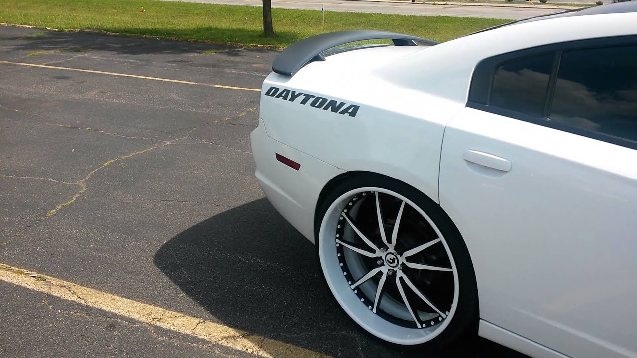 dodge charger rt daytona on staggered 2426 forgiato 201 bs youtube - Dodge Charger 2013 White Black Rims
