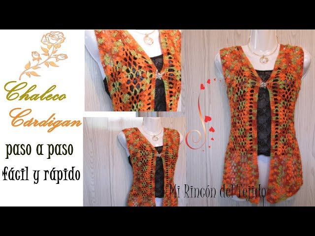 Como tejer CHALECO o CARDIGAN CROCHET FACIL y rapido - How to crochet CARDIGAN EASiLY and fast