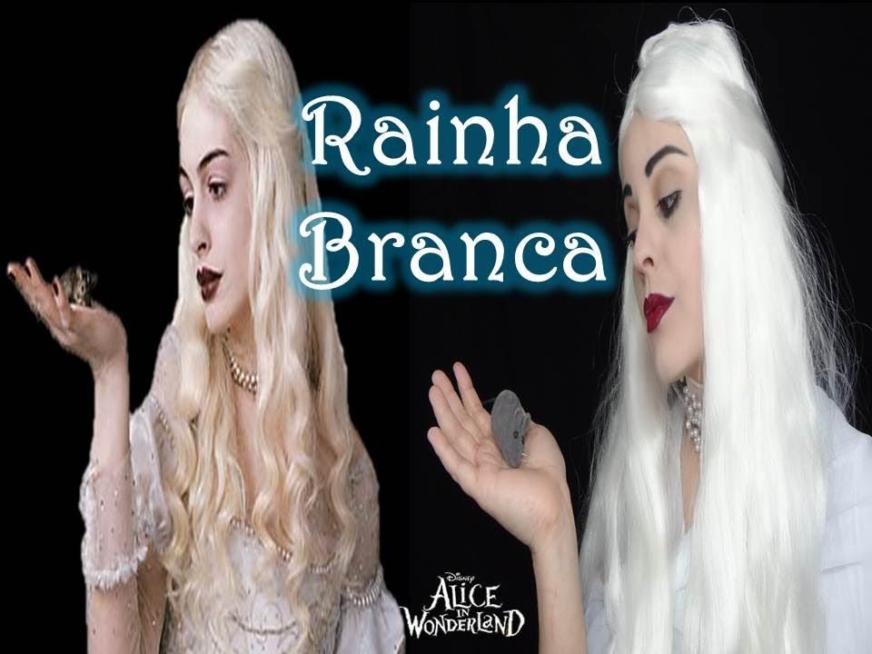 Maquiagem Da Rainha Branca Do Filme Alice No País Das Maravilhas