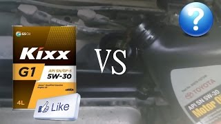 замена масла KIXX 18000 км  -  TOYOTA ?