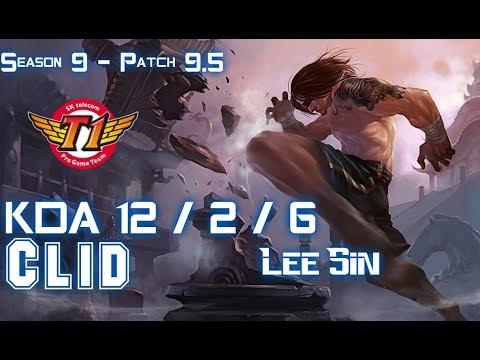 SKT Clid LEE SIN vs KINDRED Jungle - Patch 9.5 KR Ranked