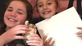 Asmr with my friend 44 different triggers with paper clip nails