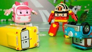 Мультфильмы с игрушками Робокар Полли - Солнечный удар Мультики Робокар Поли.