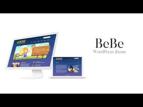 BeBe WordPress Theme Demo Import Tutorial