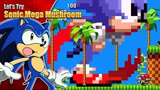 SONIC'S A MONSTER!?  Let's Try Sonic 1 Mega Mushroom Edition