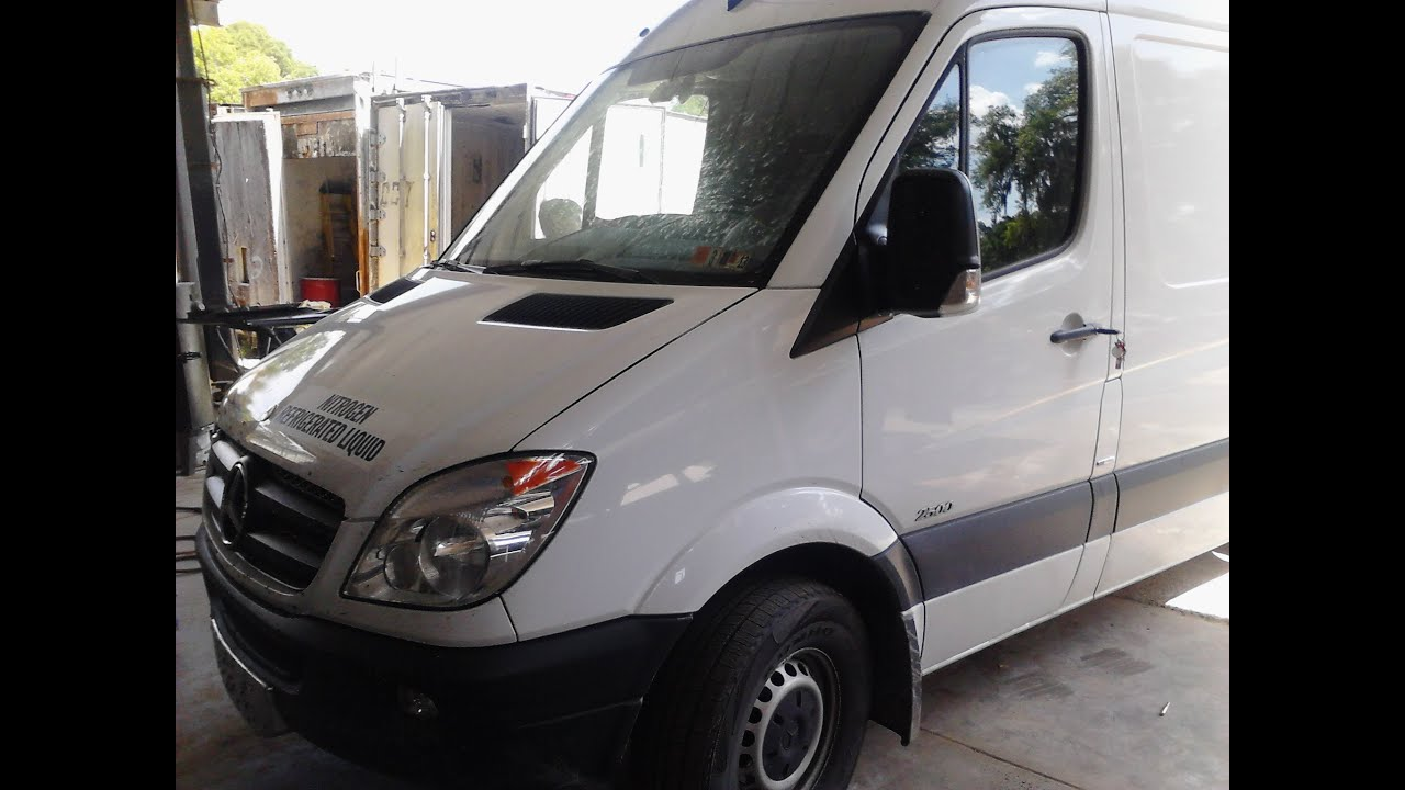 Mercedes sprinter paint and body repair youtube for Mercedes benz paint code location