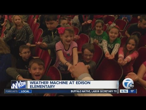 Andy Parker's Weather Machine Visits Thomas Edison Elementary