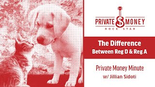 What is the Difference Between Regulation D and A? | Private Money Minute with Jillian Sidoti