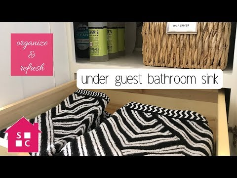 Organize with Me: Under the Guest Bathroom Sink