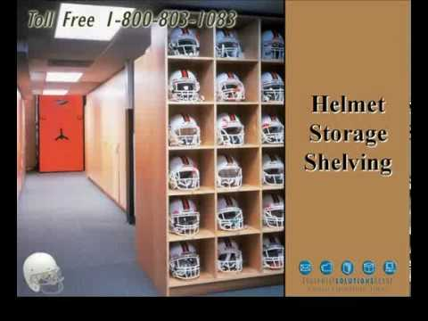 Spacesaver Athletic Equipment Space Saving Shelving Storage Solutions