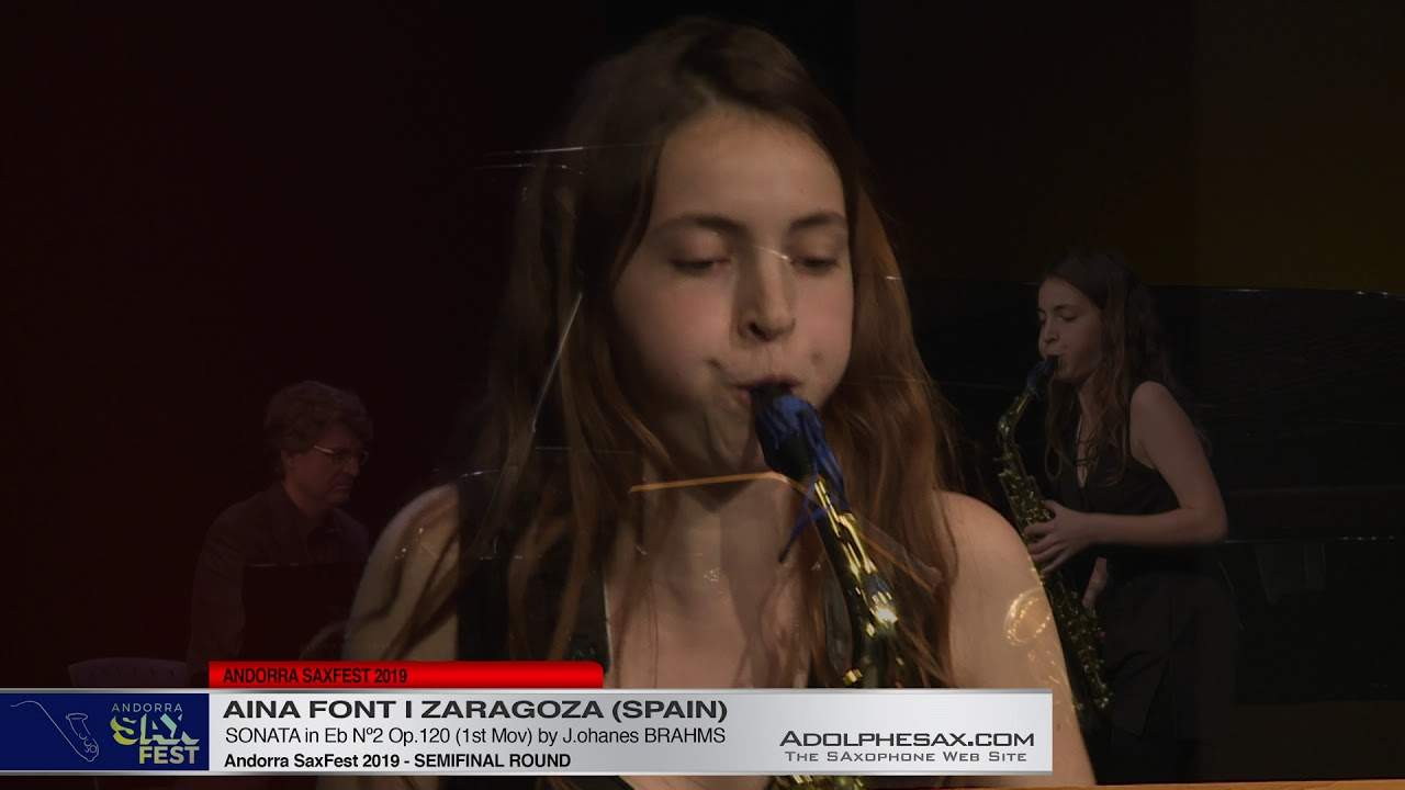 Andorra SaxFest 2019 Semifinal   Aina Font i Zaragoza   Sonata in Eb Nº2 by J  Brahms