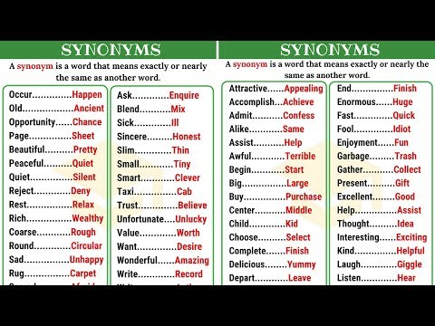 Synonyms: Learn 60+ Synonyms in English to Expand Your
