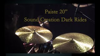 "Paiste 20"" Sound Creation Dark Rides (left side a bit lower/right side a bit higher)"